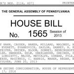 Tell your state Senator to vote NO on PA House Bill 1565